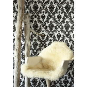 Tempaper Damsel Temporary Wallpaper :  temporary damask wallpaper black