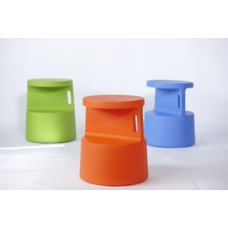 OFFI Tote Table :  blue stool green lightweight