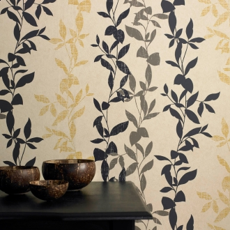Graham and Brown Eco Collection Aspen Wallpaper - in Ochre