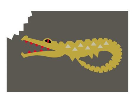 Twinkle Living Gator Rug